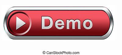 demo icon - Demo download button or icon for free trial ...