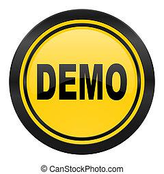 demo icon, yellow logo
