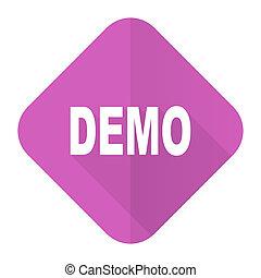 demo pink flat icon