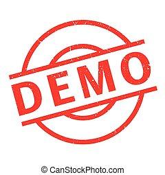 Demo rubber stamp