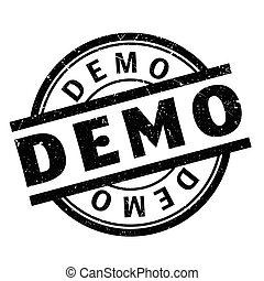 Demo rubber stamp
