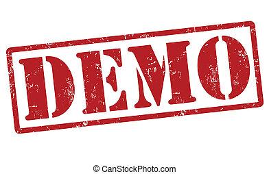 Demo stamp - Demo grunge rubber stamp, vector illustration