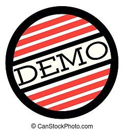 DEMO stamp on white