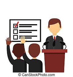 democrático, eleição