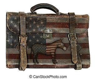 democrático, político, equipaje