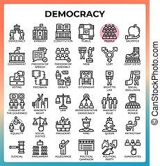 Democracy concept icons