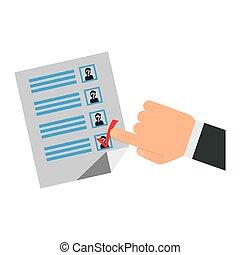 Democracy voting vote