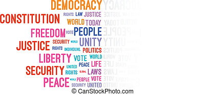 Democracy Word Cloud Concept