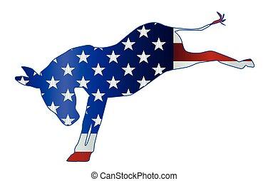 Democrat Donkey Flag