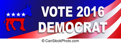 Democrat election Sticker for 2016