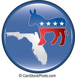 Democrat Florida Button