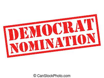 DEMOCRAT NOMINATION over a white background.