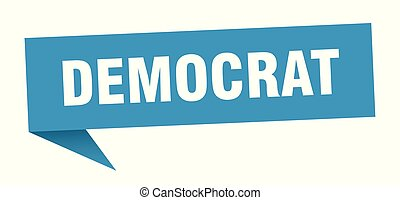 democrat speech bubble. democrat sign. democrat banner