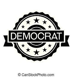 democrat stamp on white