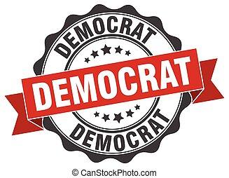 democrat stamp. sign. seal