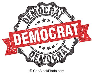 democrat stamp. sign. seal
