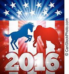 Democrat Versus Republican Concept