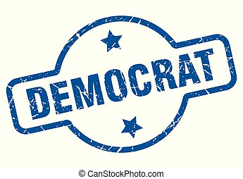 democrat vintage stamp. democrat sign