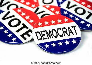 democratic party election button