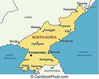 Democratic People's Republic of Korea - vector map