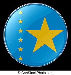 Democratic Republic of Congo Flag Button