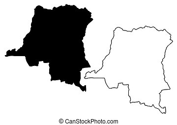 Republic of the congo road vector map vectors illustration Search