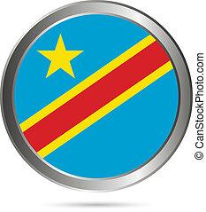 Democratic Republic of the Congo flag button
