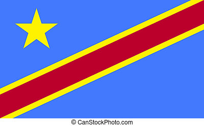 Democratic Republic of the Congo flag image for any design...