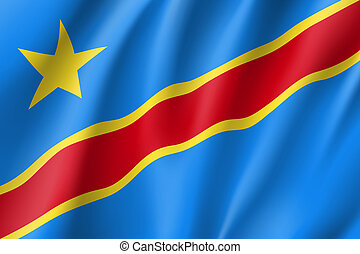 Democratic Republic of the Congo flag. National patriotic...