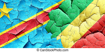 Democratic republic of the congo flag with congo flag on a...