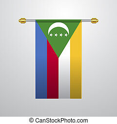 Democratic Republic of the Congo hanging Flag