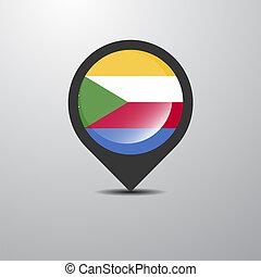Democratic Republic of the Congo Map Pin