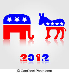 Democratic & Republican Symbols - 2012 Democratic and...