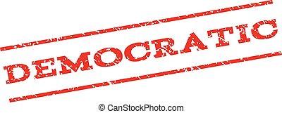 Democratic Watermark Stamp