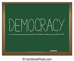 democratie, concept.