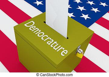 democrature, -, político, conceito