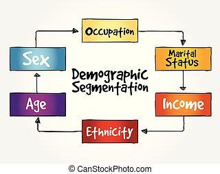 Demographic segmentation mind map flowchart social business...