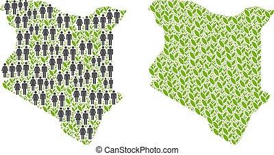 Demographics and Environment Kenya Map