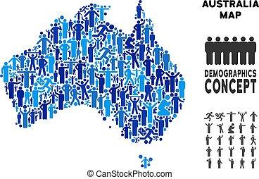 Demographics Australia Map