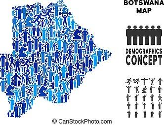 Demographics Botswana Map