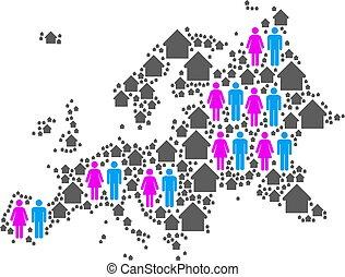Demographics Europe Map