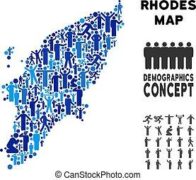 Demographics Greek Rhodes Island Map
