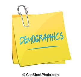 demographics post it illustration