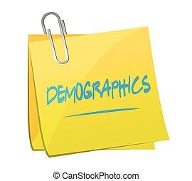 demographics post it illustration