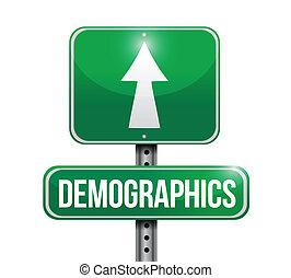 demographics road sign illustrations design