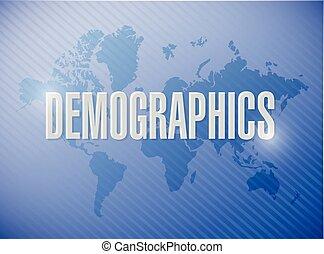 demographics sign illustration