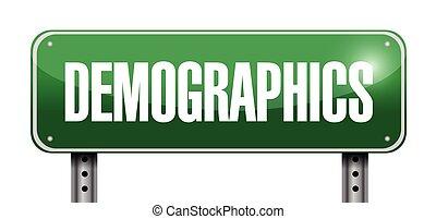 demographics street sign illustration