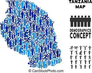 Demographics Tanzania Map