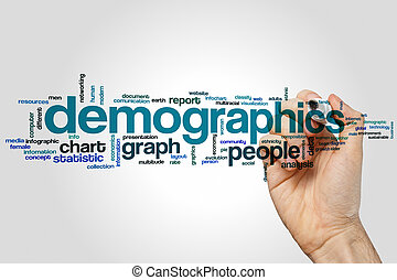 Demographics word cloud concept