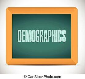 demographics, znak, na, niejaki, deska